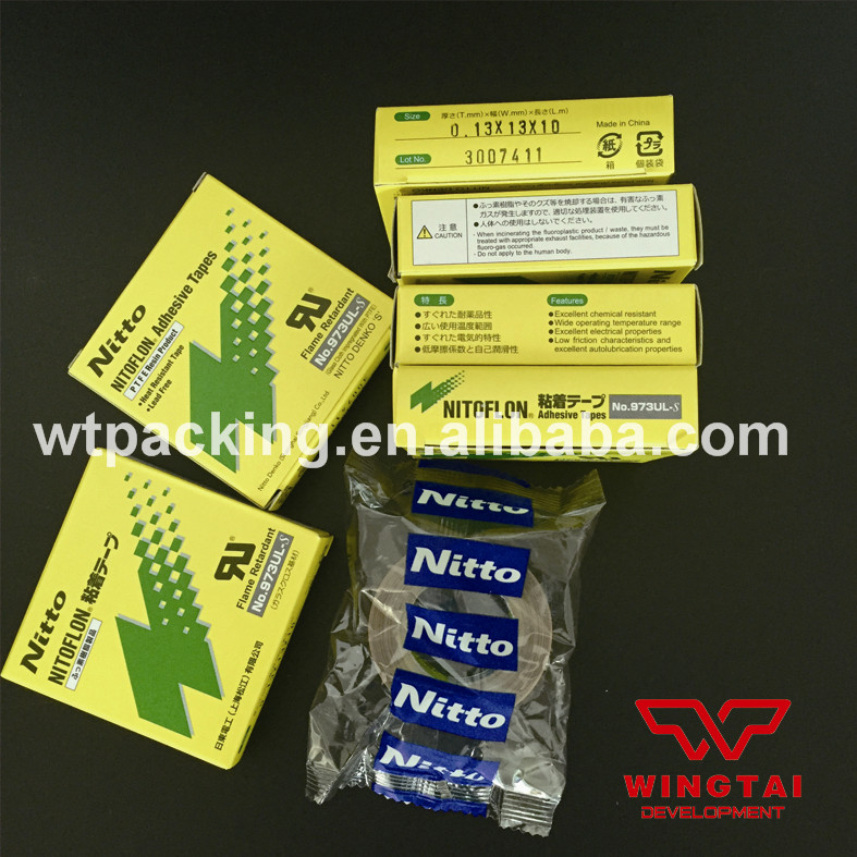 60Rolls/Lot Nitto Tape PTFE T0.13mm*W13mm*L10m Heat Resistance Japan Nitto DENKO Tape 973UL-S t0 10mm w38mm l33m nitto denko heat sealing machine use heat resistant tape 923s