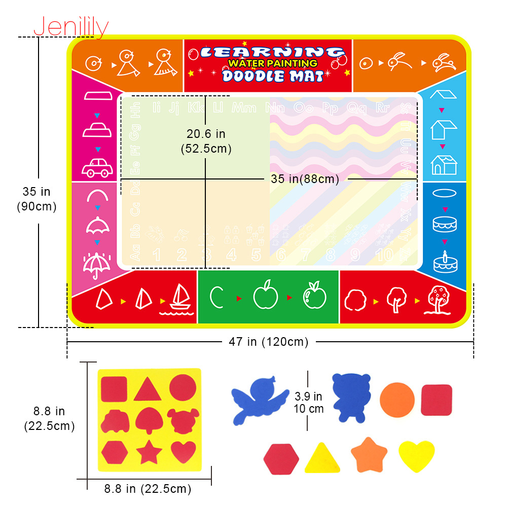 Image 3 - 120*90cm Funny Magic Water Drawing Coloring Book Doodle Mat with 4 Magic Pen Painting Drawing Board For Kids Toys Birthday Gift-in Drawing Toys from Toys & Hobbies