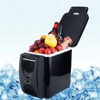 6L Mini Car Fridge Cooler Warmer 12V Compressor Fridge Travel Refrigerator Portable Electric Icebox Cooler Box Auto Freezer