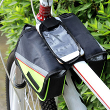 Outdoor Mountain Road Bike Bag Bicycle Front Tube Bag Cycling Pouch Pannier Bike Bags Bicycle Accessories In Stock