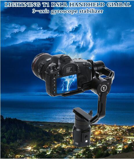 3kg Load Handheld Stabilizer 3 Axis Brushless Gimbal 32bits encorder controller for GH3 GH4 A7S NEX
