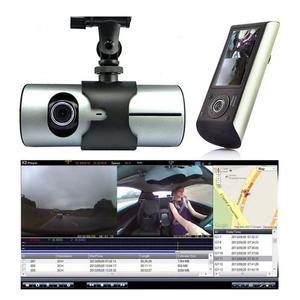"Image 5 - Çift kameralı araç dvr R300 GPS ve 3D g sensor 2.7 ""TFT LCD X3000 kam video kamera döngü kayıt dijital Zoom"