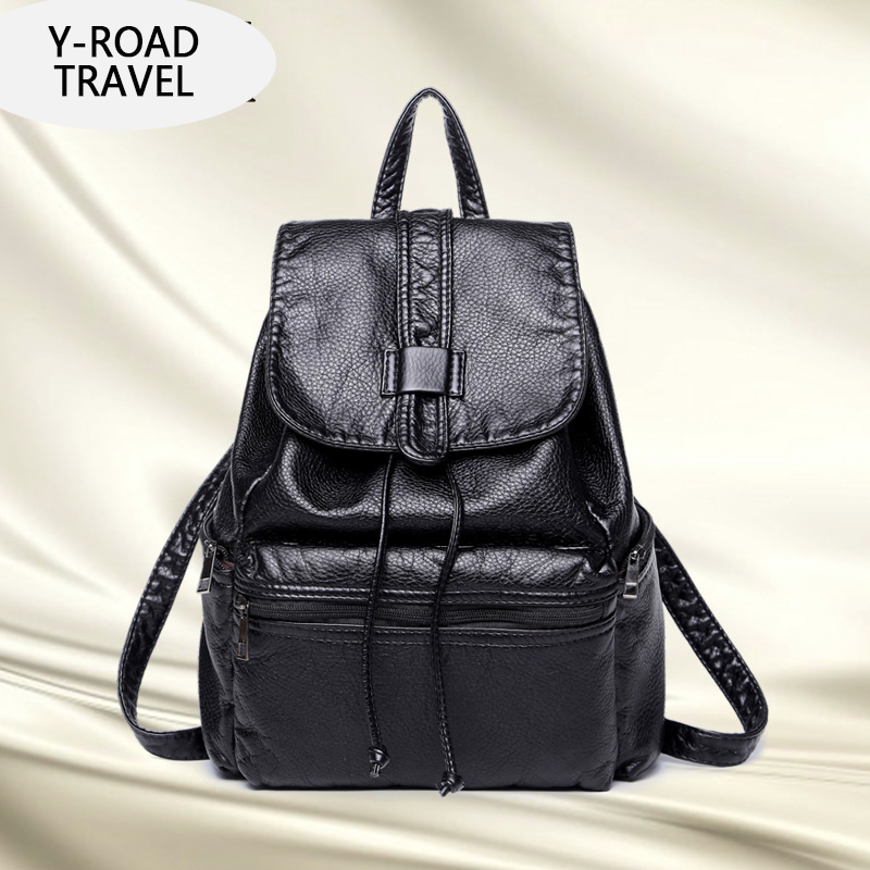 New Korean fashion leisure Style Hot High Quality PU Leather Travel Backpack Women Bags Girls School