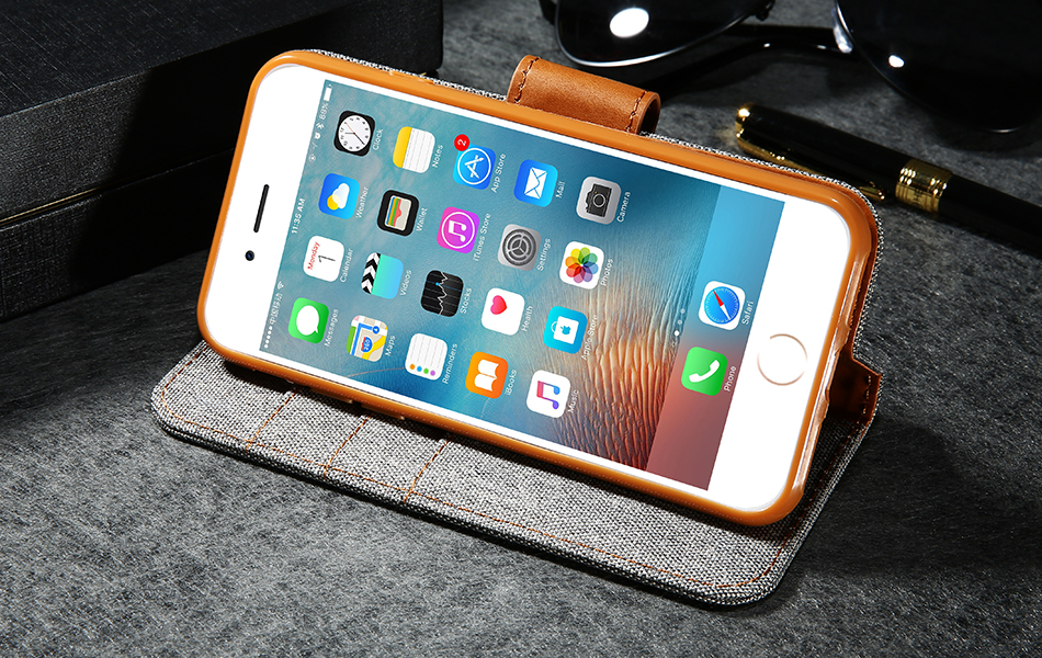 DOEES Luxury Stand Wallet Flip Cases For iPhone 6 6S Plus 7 5 5S SE Fashion Card Slot Leather Cover For iPhone 7 6 5 S With LOGO (18)