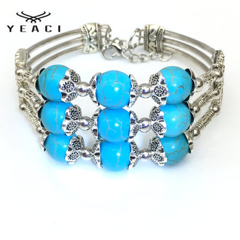 New Natural Stone Women Bracelet Metal Bracelet For Women Wholesale Wedding Party S-073