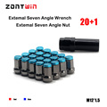 20PCS + 1KEY Zontwin RIM Racing Sports Car Lug Wheel Nuts Screw M12 X 1.5 MM  M12 * 1.5 Suit For Toyota honda mazda kia Reiz