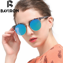 BAVIRON Multi Frame Retro Sun Glasses Round Polaroid Lens Sunglasses For Men And Women Unique V Logo Fantastic Polarization 1561