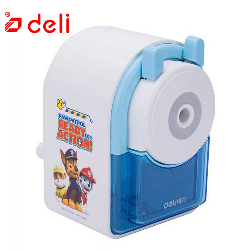 Deli cartoon pattern pencil sharpener mechanical paw patrol for school office art supply cute puppy stationery kids gift 0826 deli cute stationery thomas mechanical pencil sharpener train friends give child a learning gift good quality school stationery
