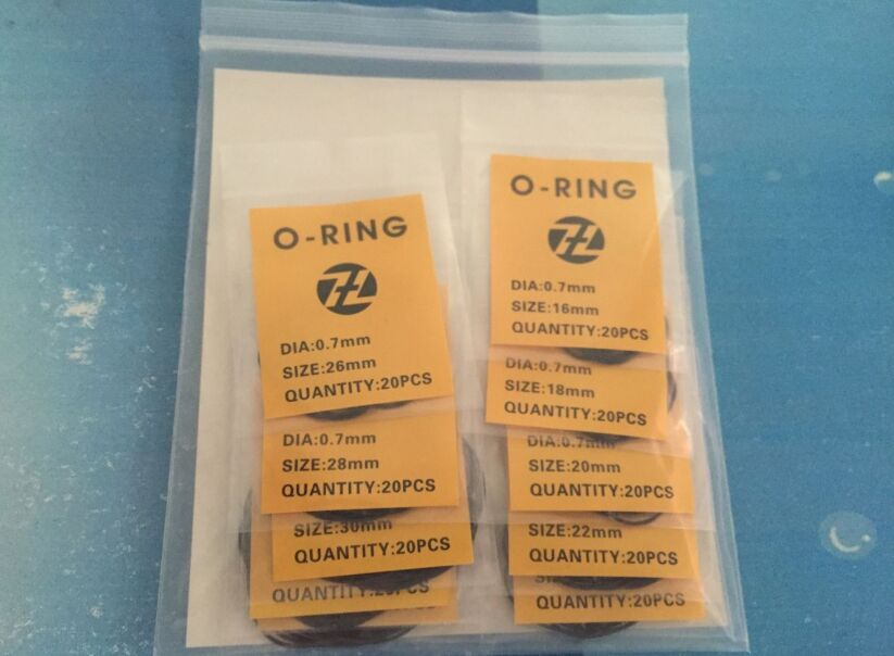 Free Shipping 1 Set Premium Quality 0.5mm/0.6mm/0.7mm 16~34mm Size 200pcs Gasket Rubber O-Ring for Watch Case Back цена 2017