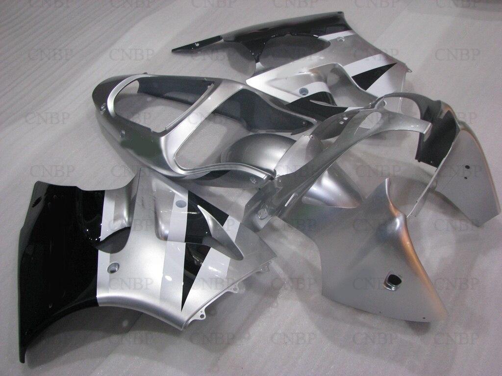 Обтекатель 636 на ZX-6р 2001 Обтекатели ниндзя ZX-6р 02 2000 - 2002 серебристый черный Обтекатели для Kawasaki запросу zx6r 2001