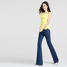 Pants 16 spring and summer speaker jeans female trousers plus size mid waist female trousers wear