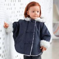 2015 mới Mùa Thu trang phục trẻ em bé cô gái áo hải quân màu xanh mũi công chúa loại hoodiess áo khoác ngoài cho bé 4-24 tháng