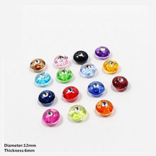free shipping 100pcs 12mm mix Diamond DIY Acrylic pattern Clothing Accessories Overcoat Jacket Coat Buttons Sweater Shirt Button(China)