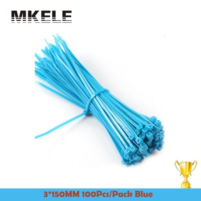 New Arrivals 3*150mm Self Locking Nylon Cable Plastic Ties Color ...