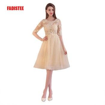 FADISTEE new arrival evening dresses prom party dresses haft sleeves appliques elegant short style vestidos de festa
