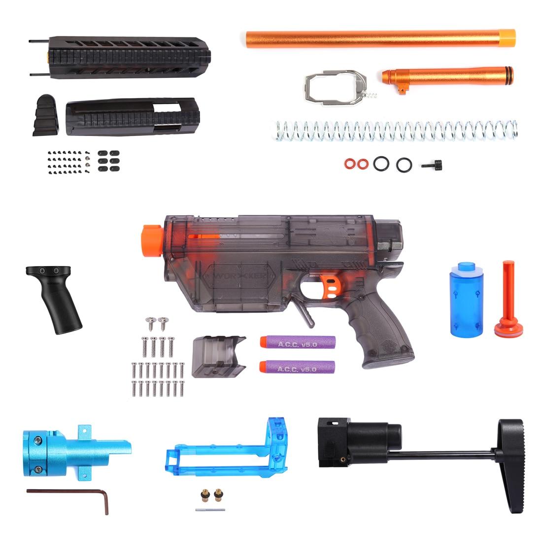 Worker Prophecy R Series Modeling Short Bullet Transformed Kit for Nerf(Power Version) - Transparent Black