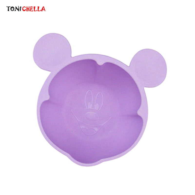 Baby Bamboo Bowls Infant Feeding Tableware Cute Children Food Container Toddler Training Dinnerware Anti-skid Bottom T0660