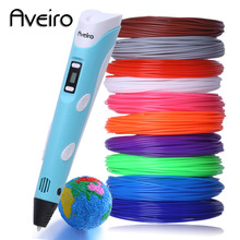 DIY 3D Printing Pen LED Screen 3 D Painting With 100M 10 Color PLA Filament Creative Toy Gift For Kid Design Drawing