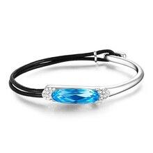 2ba76b735c Buy swarovski leather bracelets and get free shipping on AliExpress.com