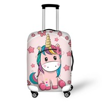 pattern Elastic Luggage Protective Cover Zipper Suit For 18 30 inch Trunk Case Travel Suitcase Covers Bags