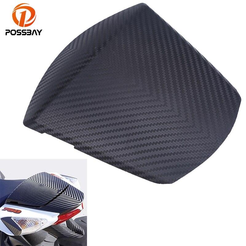 POSSBAY Motorcycle Seats Rear Pillion Seat Cowl Fairing Cover Cafe Racer Passenger Seat For Suzuki GSX-R 600 GSX-R 750 2011-2016