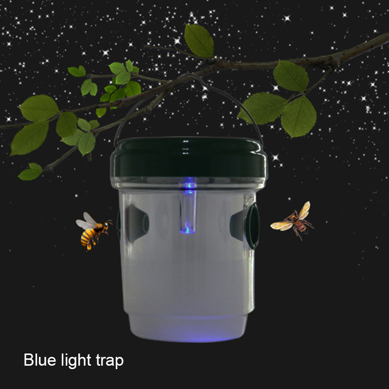 Useful Bees Fly Bugs Wasp Trap Catcher With Solar Powered Reusable Ultraviolet LED Light LXY9 MY3018