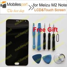 ЖК-Экран для Meizu M2 Note Новый Высокое Качество ЖК-Дисплей + Сенсорный Экран Замена Аксессуары Для Meizu M2 Note Бесплатная Доставка(China (Mainland))