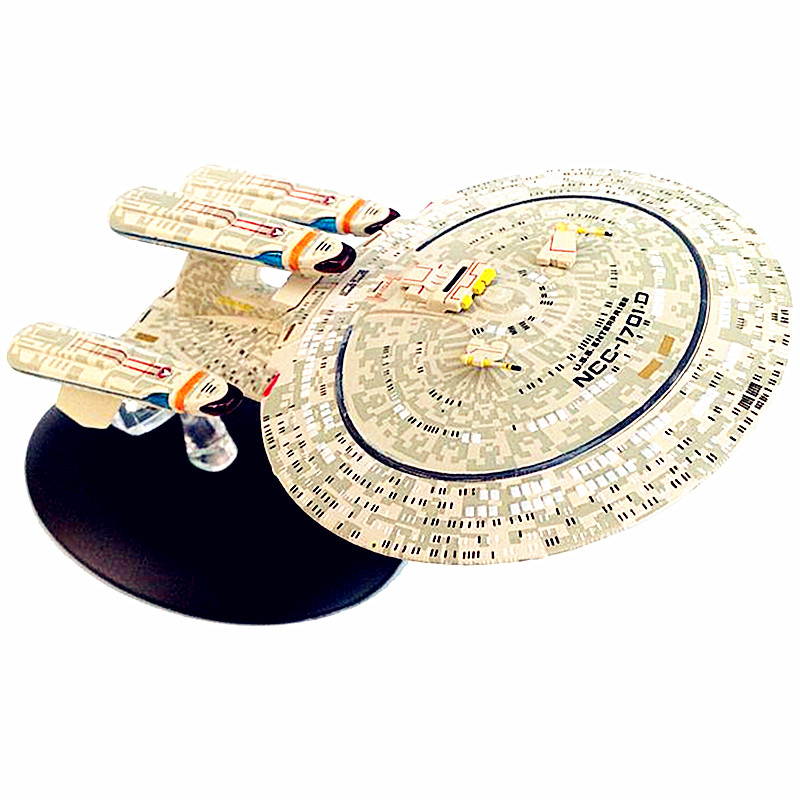 6Pcs/set Star Trek Spaceship Model Alloy PVC Toys Action Figure Collectible Toys for Children's Gifts L2699 star trek magazine star ship eaglemoss uss enterprise nx 01 spaceship model 4