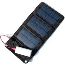 Venta CALIENTE 5 W de Alta Eficiencia Del Cargador Del Panel Solar Al Aire Libre Plegable Bolsa de Carga Solar Cargador Del Banco Móvil Envío Gratis