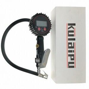 Image 2 - Inflação Do Pneu Do Caminhão Do Carro Digital para Armas Ferramenta de Monitoramento de Pressão de Ar Do Pneu Inflator Medidor Display LCD Dial Medidor Veículo Tester
