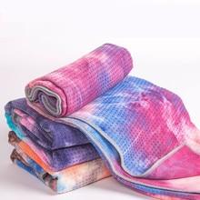 Tie Dye одеяло для йоги 183*63 см горячее полотенце для йоги микрофибра силикон нескользящий коврик для йоги полотенце Пилатес фитнес спортзал Коврик для упражнений