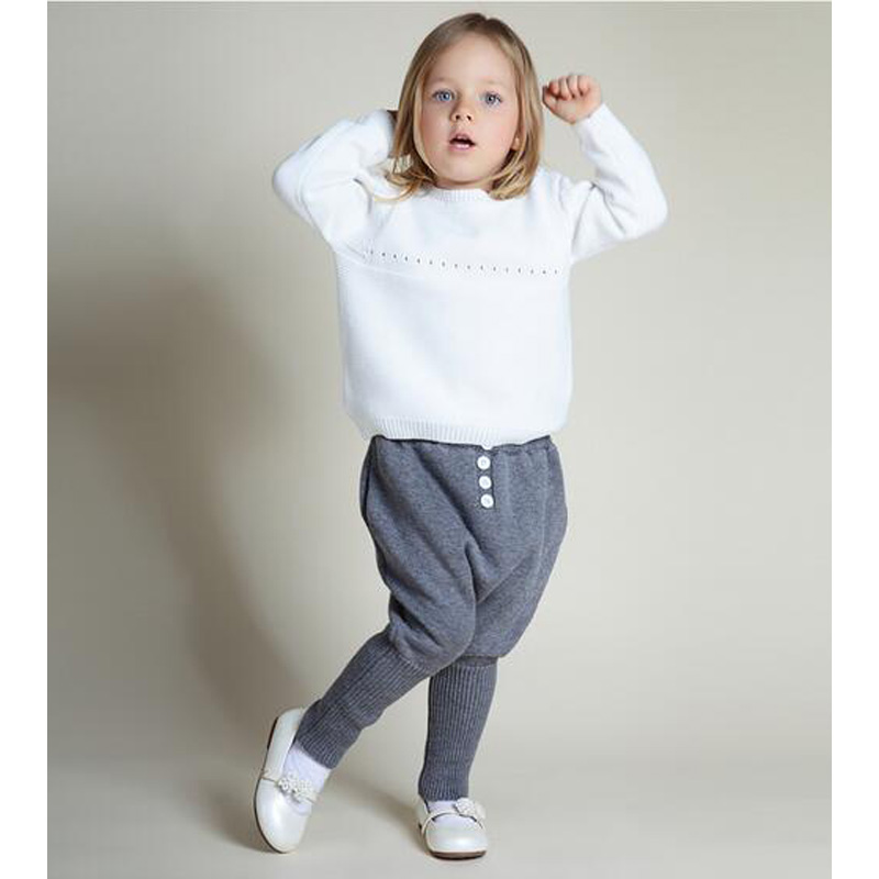 Girls Boys Clothes Set Casual Knitted Coat+Pants 2pcs Kids Sweater Girl Autumn Outfits Kids Tracksuit Suit 2016 new suit boys clothes brand winter sweater for kids 3 13 year with m word three piece set boys vest pants coat a 26145