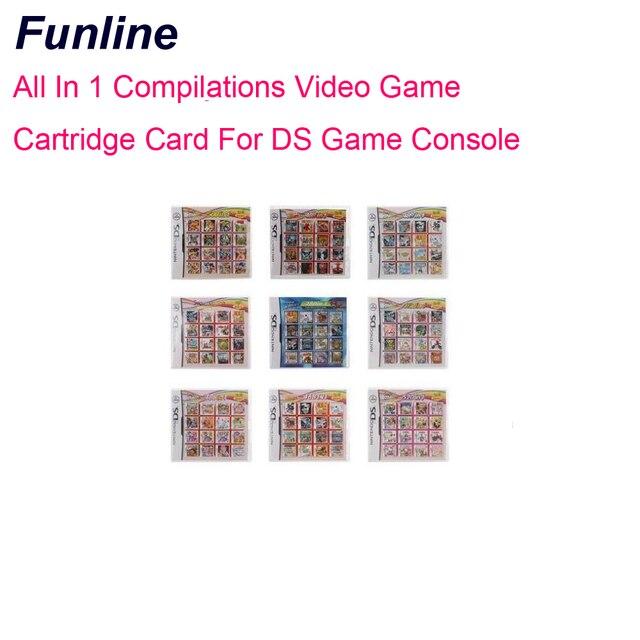 الكل في واحد مجموعات بطاقة خرطوشة لعبة الفيديو لوحدة التحكم في الألعاب DS