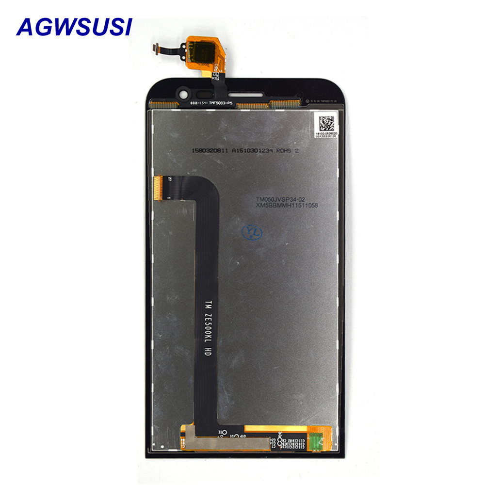 For Asus ZenFone 2 Laser ZE500KL ZE500KG Z00ED Touch Screen Digitizer Sensor Glass Panel + LCD Display Monitor Screen Assembly