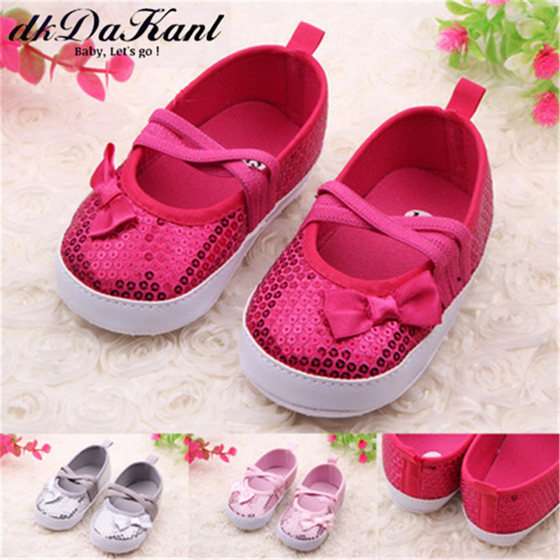 DkDaKanl Baby Girl Shoes 2018 Spring And Summer 0-1 Year Old Baby Soft Bottom Shoes Baby Toddler Shoes FF607R