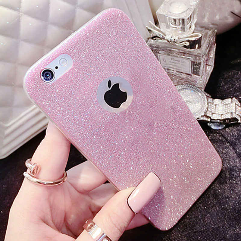 Glitter Soft Silicone TPU Celelar For iPhone On 5S SE 6S 6 Plus 7 Luxury Bing Ultra Thin TPU Cover Case On 5 6 7  Back Cover
