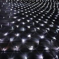 LED Christmas Lights Outdoor Waterproof Net String Lights 1 5M X1 5M 96LED AC 220V Garland