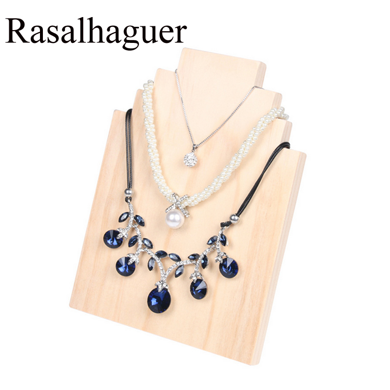 Wooden Jewelry Necklace Display Stand Jewelry Pendant Window Display Show 3 Necklaces Ornaments Silver Jewelry Shooting Props
