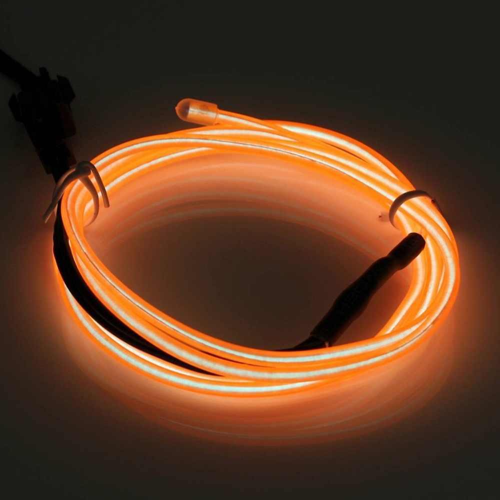 1 M Esnek Neon Işık EL Elektrominesans Teller Araba Dekorasyon Ev Kulübü Tatil Parti Dekor Cosplay Elbise