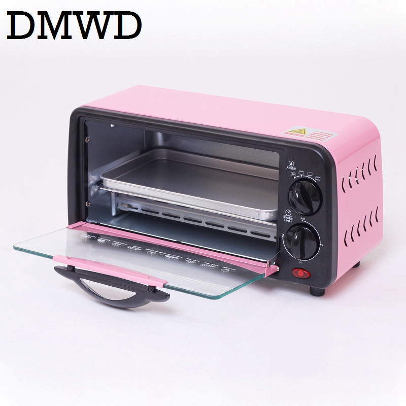 DMWD Mini Electric Convection Oven Multifunction Bread Bakery Timer Toaster Grill Biscuits Cake Pizza Cookies Baking
