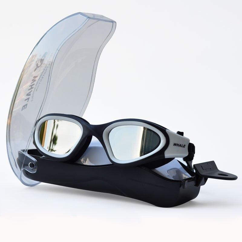 Anti-nevoeiro uv anti-ultravioleta masculino mulher natação óculos óculos de natação à prova dwaterproof água ajustável silicone nadar óculos de proteção para natação