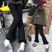 Nununu Sale Girls Leggings Flare Pants Spring Flared 2018 New Children Trousers Little Girl Trendy Casual Legging Clothing
