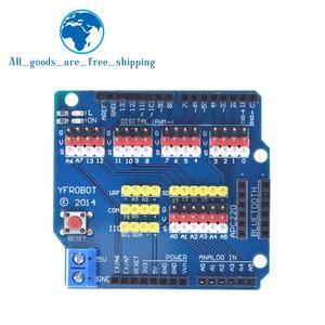 TZT V5 Датчик Щит Плата расширения щит для Arduino UNO R3 V5.0 электронный модуль Датчик Щит V5 Плата расширения