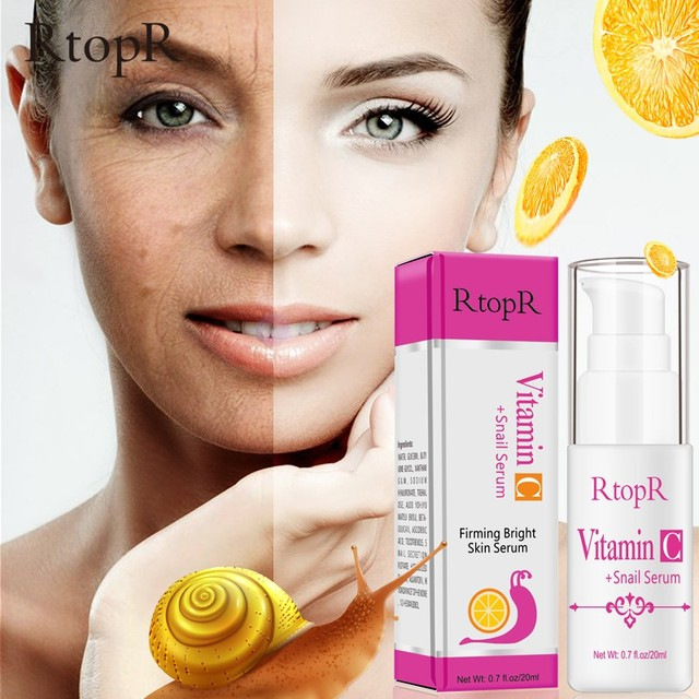 20ml Vitamin C Snail Serum Anti Wrinkle Essence Face Skin Care Whitening Anti-Aging Facial Beauty Products 1