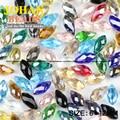 Briolette Colgantes de perlas de cristal Austriaco Gota de Agua 6*12mm 50 unids Teardrop cuentas de vidrio para la fabricación de joyas de calidad Superior pulsera DIY