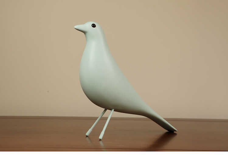 Simple bird TV cabinet decoration Home Decoration Home improvement black and white Lucky bird living room decorations