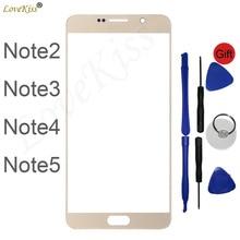 Для Samsung Galaxy Note 2 3 4 5 N7100 N9000 N910 N920 Note4 Note5 сенсорный экран передняя панель дигитайзер стекло TP Замена