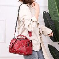 Brand Candy Color Women Messenger Bag Wash Pu Leather Girls Soft Small Handbag High Quality Ladies Shoulder Bags&Purses