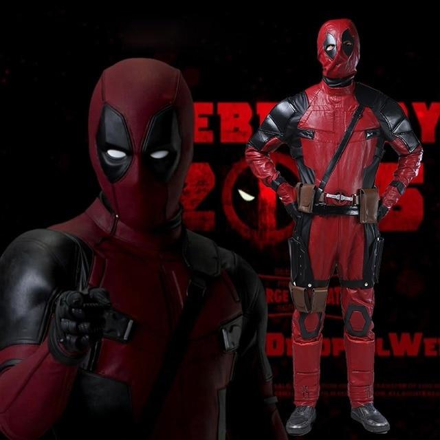 Adult Deadpool Costume Movie Deadpool Cosplay Wade Wilson Costume ...