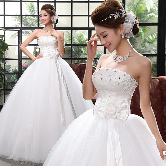 Cheap wedding dress under 100 Lace bride white princess ball gown ...